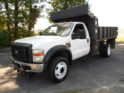 "2008 Ford Super Duty F-450 DRW 2WD Reg Cab 189"" WB 108"" CA XL (white)"