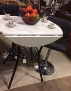 Pub Style Drop Leaf Table & Chairs / Stools