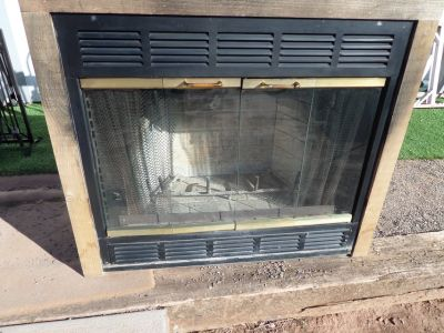 Wood burning fireplace With blower built in style zero clearance