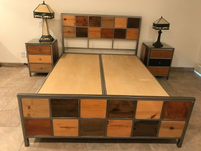 Platform Bed with drawers and Nightstands