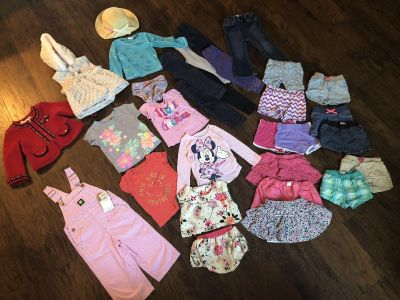 Mixed girls clothes (18m-2T)