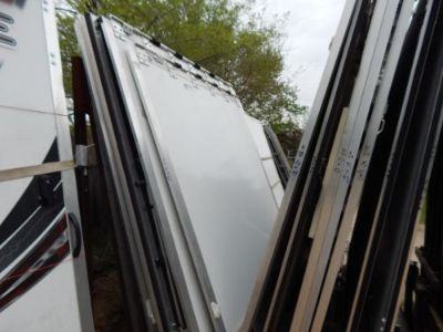 "Sell Trailer Door, 87""X87"", Rear Trailer Door Ramp, New, White, W/Springs/Hinge, #49 motorcycle in Adrian, Michigan, United States, for US $400.00"