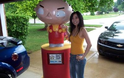 $3,000 6 foot tall Stewie Statue on wheels from the hit TV show Family Guy -
