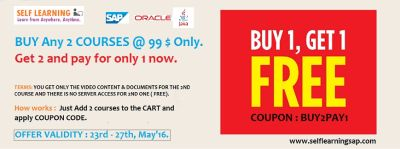 HURRY UP Last I Day BUY 1 GET 1 OFFER - Get 2 Courses and Pay for only 1 Course.