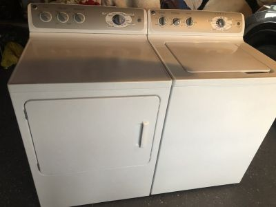Newer Ge washer and gas dryer