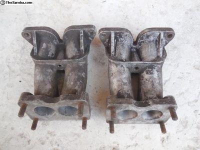 Porsche 356 Intake manifolds For Zenith carburetor