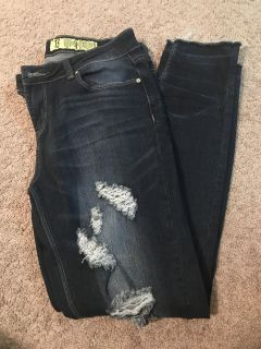 Distressed jeans!