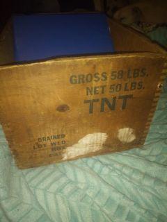 Vintage TNT wooden box