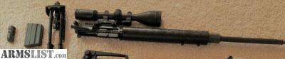 For Sale: 6.5 Grendel AR Upper with Burris 4.5x14 fullfield II rifle scope, and AMMO