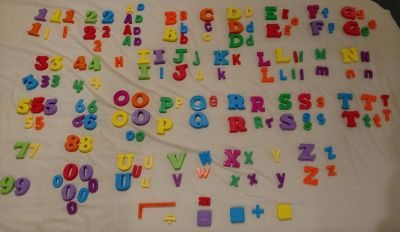 Set of Magnetic Letters/Numbers
