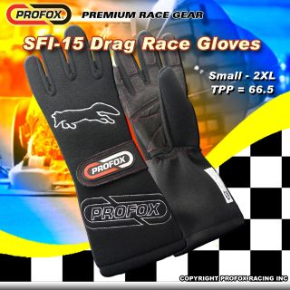 PROFOX SFI-15 DRAG RACING GLOVES