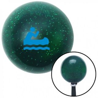 Purchase Blue Guy Paddling Canoe Green Metal Flake Shift Knob with 16mm x 1.5 motorcycle in Portland, Oregon, United States, for US $29.97