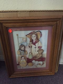 Doll Picture and Frame