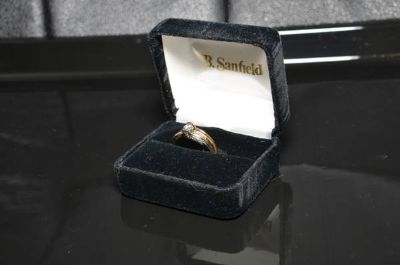 14 KT Gold 2 Tone Ring - Wedding Set