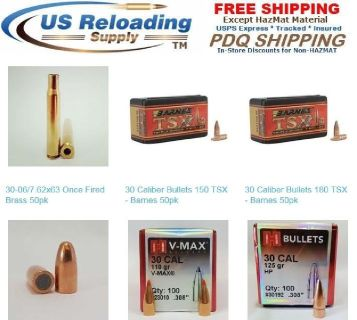 30-06 Reloading Supplies with Free Shipping