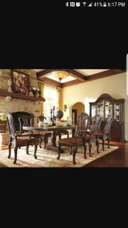 9 pc Dinning room table