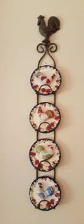 Rooster / Hen Plates and Hanger