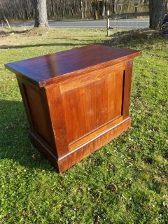Antique Mahogany Store Display Stand