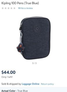 New KIPLING 100 pens pencils case great gift! Retails for $45