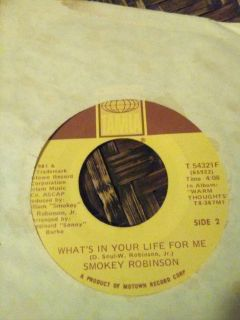 Smokey Robinson 45 record