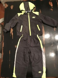 Nike zip up and pants size 24 month