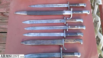 For Sale: Mauser Bayonet lot