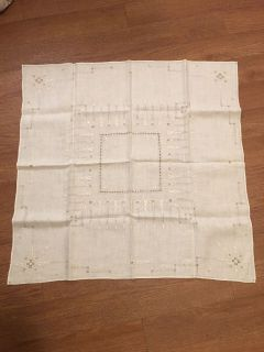 BEAUTIFUL COTTON VTG TABLE CLOTH