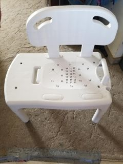 Sliding Shower Chair w/ back and soapdish
