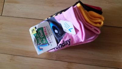 New 7 pack days of the week socks