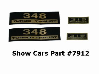Purchase VALVE COVER DECALS KIT 61,60,59,58,CHEVY CHEVROLET IMPALA BELAIR 348 315HP motorcycle in New Ulm, Minnesota, United States, for US $12.95