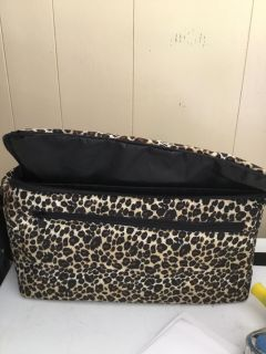 LEOPARD BAG WITH REMOVABLE HARD SHELL & ADJUSTABLE CARRY STRAP