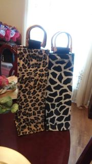 Wine carry bags. $3 both