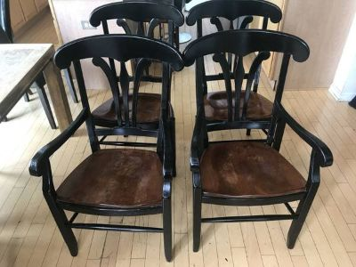 DIY 4 Two Tone Dining Chairs