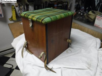 Camper Stool Ditty Box Green