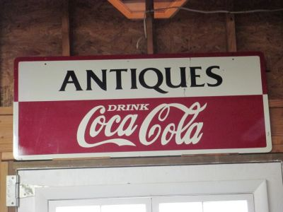 Antique Coca Cola 2 Sided Sign