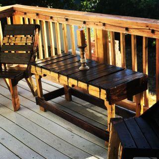 Custom Wooden Patio set.