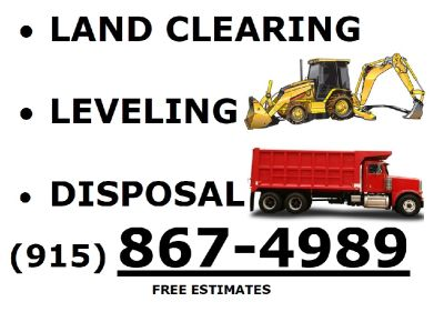 Land Clearing/ Dump trucking