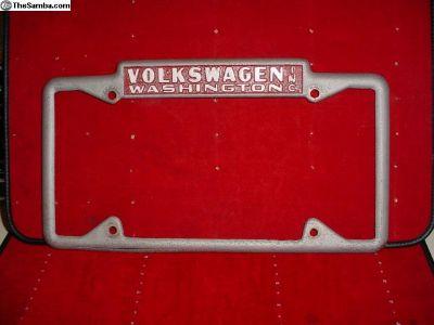Volkswagen Washington Dealer License Plate Frame