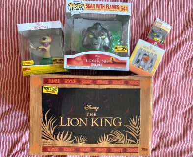 Lion King Funko Pop Mystery Box Set Hot Topic Exclusive