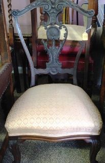 Antique Chair w/ Wheels