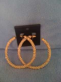 REDUCED!!!New,Sexy ,Gold & Diamonds Hoops