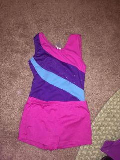 Danskin body suit and short outfit size 6x
