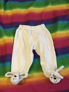 0 to 3 month bunny pants