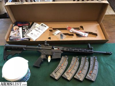 For Sale: LNIB S&W M&P 15-22 w/4 mags & 1400 rounds