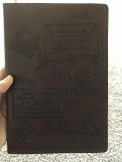 New leather bound book or diary