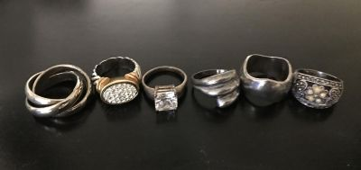 Size 7 silver rings