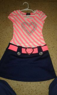 Striped dress with heart size 5