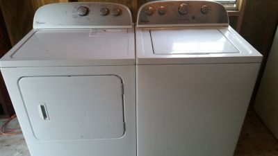 Matching whirlpool washer and dryer set