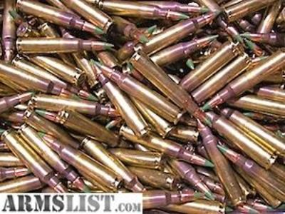 For Sale: 1,000 rounds of American Eagle 62gr 5.56mm green tips