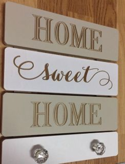 DECOR SIGN WITH CRYSTAL KNOBS